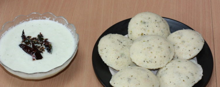 Rava Idli with Chutney